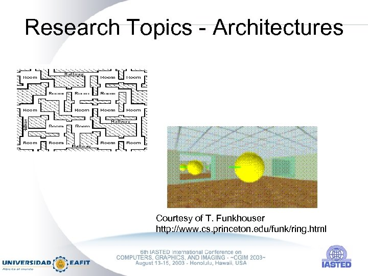 Research Topics - Architectures Courtesy of T. Funkhouser http: //www. cs. princeton. edu/funk/ring. html