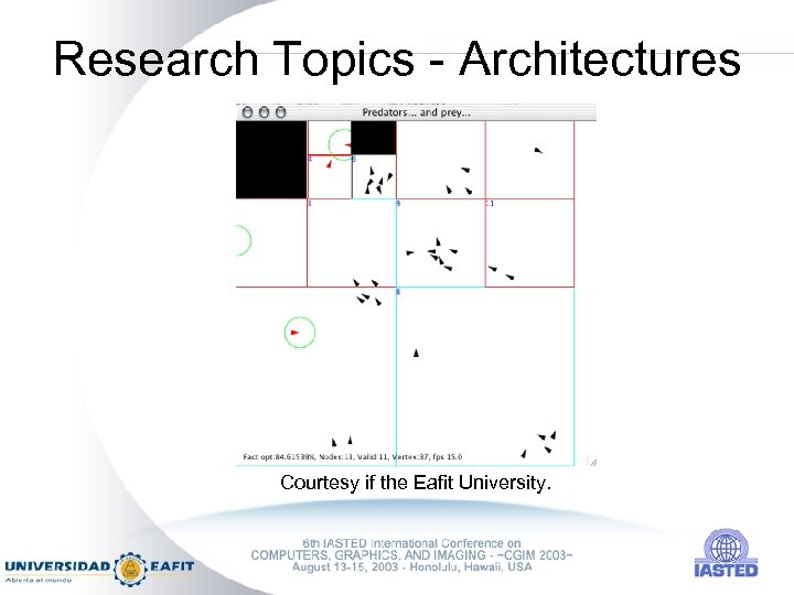 Research Topics - Architectures Courtesy if the Eafit University.