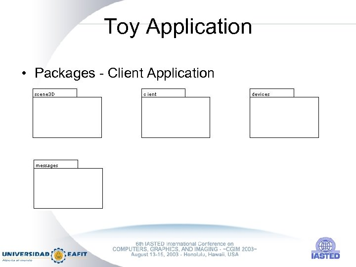 Toy Application • Packages - Client Application