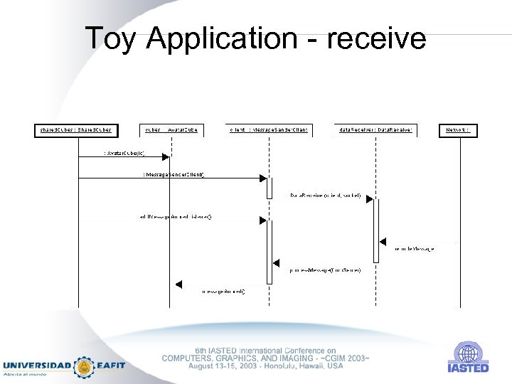 Toy Application - receive