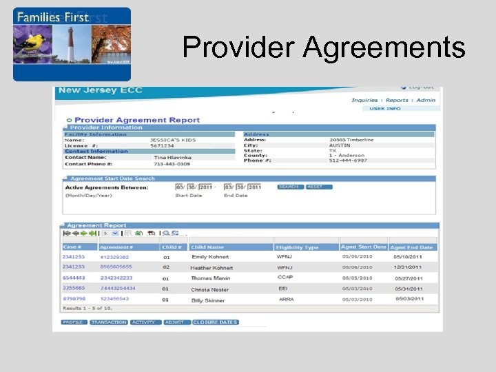 Provider Agreements