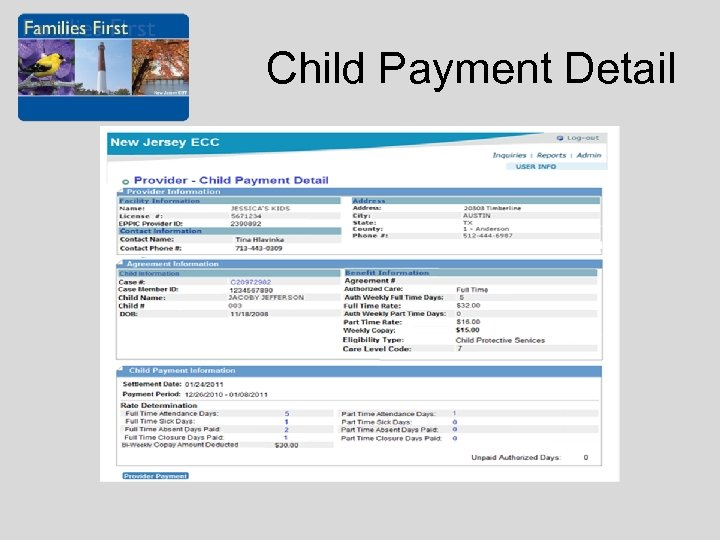 Child Payment Detail