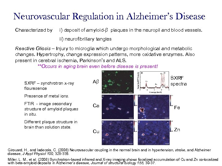 Neurovascular Regulation in Alzheimer's Disease Characterized by i) deposit of amyloid-β plaques in the