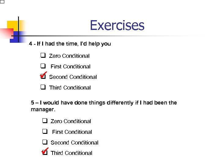 Exercises 4 - If I had the time, I'd help you q Zero Conditional