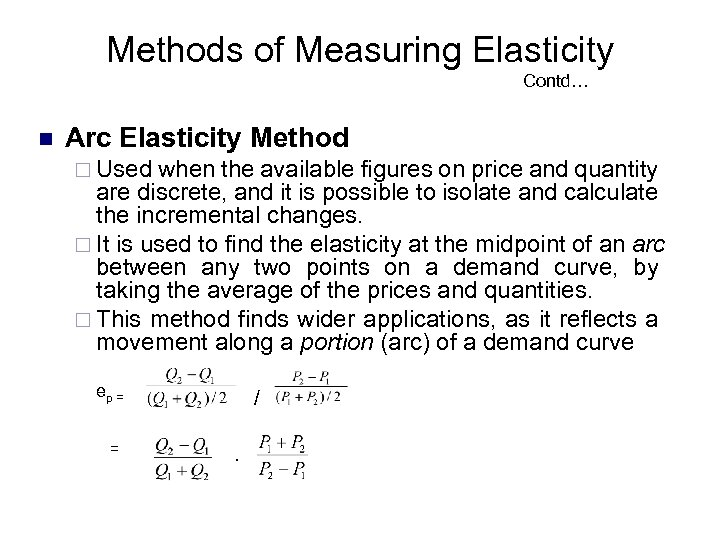 Elasticity Of Demand Lecture Plan N N
