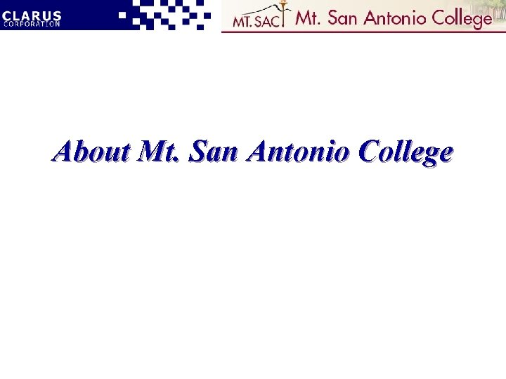 About Mt. San Antonio College
