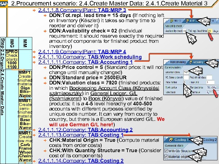 2. Procurement scenario: 2. 4. Create Master Data: 2. 4. 1. Create Material 3