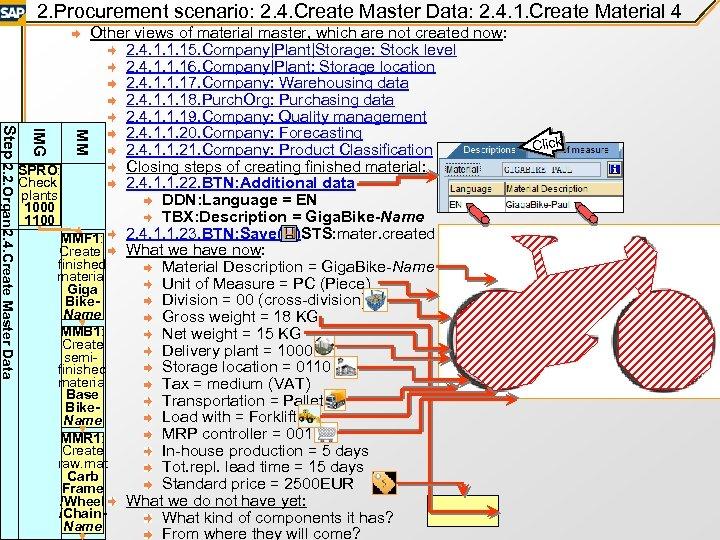 2. Procurement scenario: 2. 4. Create Master Data: 2. 4. 1. Create Material 4