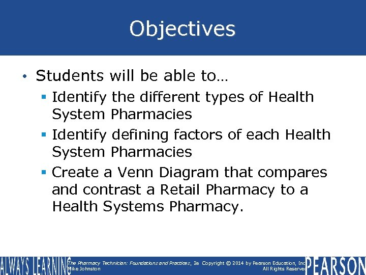 Objectives • Students will be able to… § Identify the different types of Health