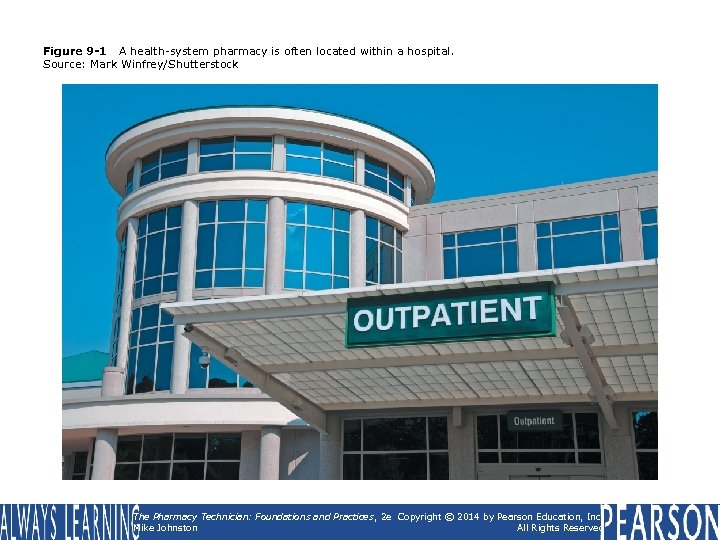Figure 9 -1 A health-system pharmacy is often located within a hospital. Source: Mark