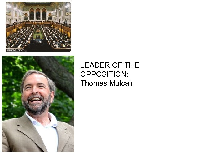 HOUSE OF COMMONS LEADER OF THE OPPOSITION: Thomas Mulcair
