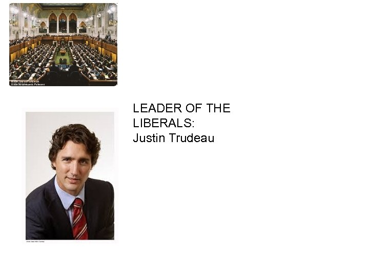 HOUSE OF COMMONS LEADER OF THE LIBERALS: Justin Trudeau