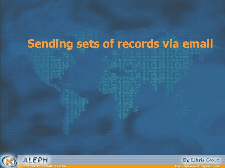 Sending sets of records via email