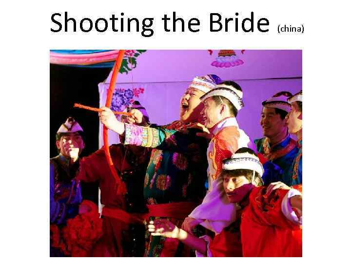Shooting the Bride (china)