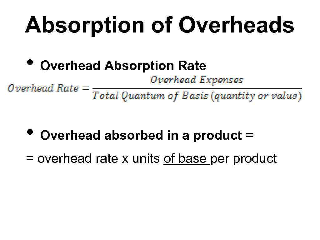 Enterprise overheads