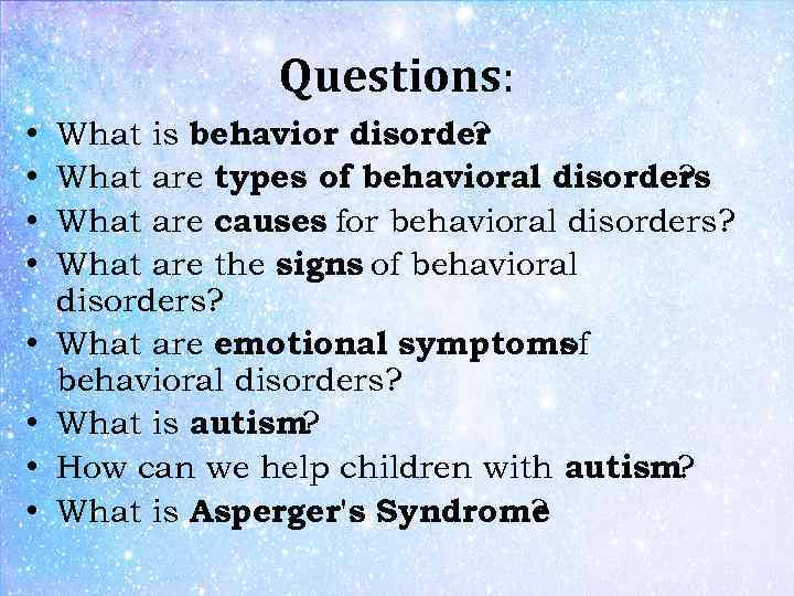 how to cope with emotional and behavioral disorders Mental illness is a category of many different mental disorders such as depression, anxiety, schizophrenia, anorexia, or bipolar disorder current research provides a better understanding of how the brain works and what happens when a child, youth, or adult experience challenges with thought, mood, behavior, or interactions with others.