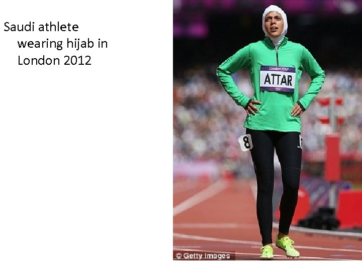 Saudi athlete wearing hijab in London 2012