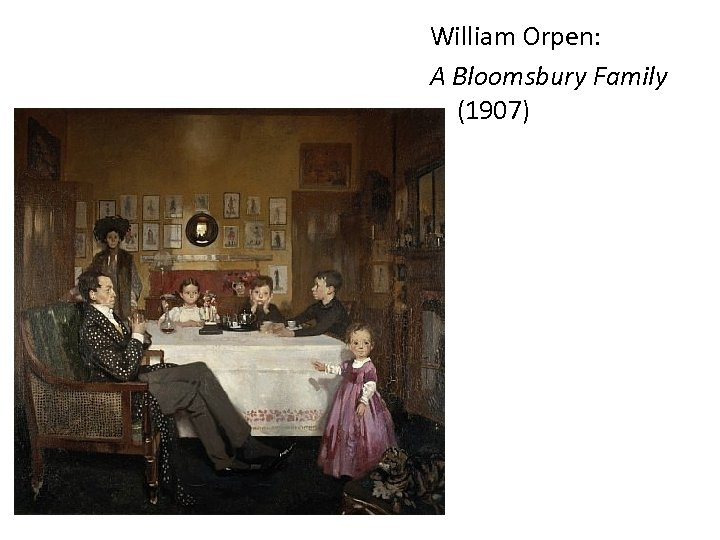 William Orpen: A Bloomsbury Family (1907)