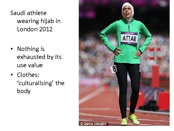 Saudi athlete wearing hijab in London 2012 • Nothing is exhausted by its use