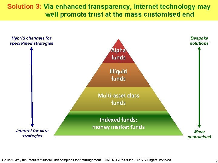 Solution 3: Via enhanced transparency, Internet technology may well promote trust at the mass