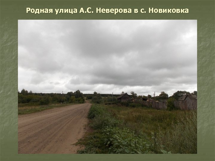 Родная улица А. С. Неверова в с. Новиковка
