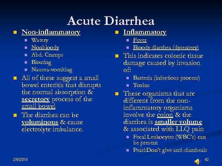Gastroenteritis Infections of the GI Tract and Diarrhea