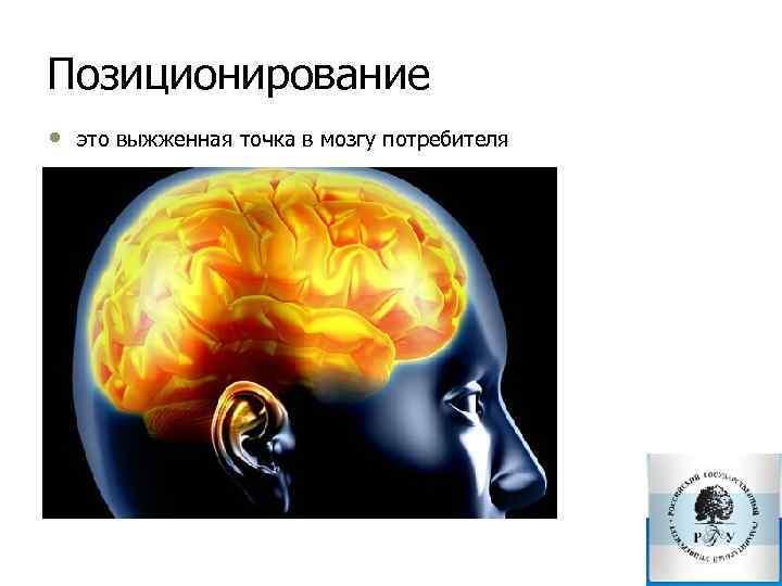 Позиционирование • это выжженная точка в мозгу потребителя