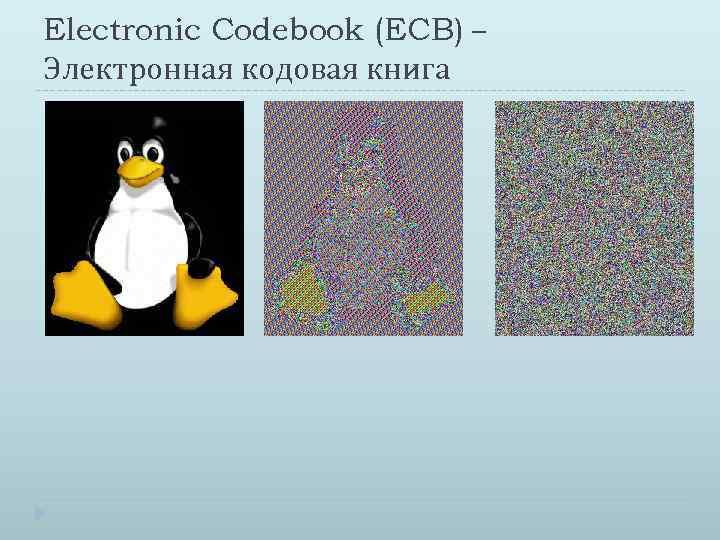 Electronic Codebook (ECB) – Электронная кодовая книга