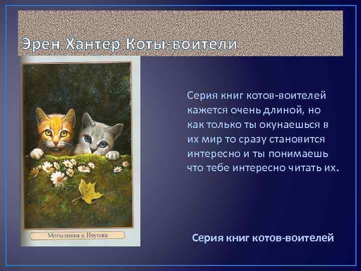 Эрен Хантер Коты-воители Серия книг котов-воителей кажется очень длиной, но как только ты окунаешься