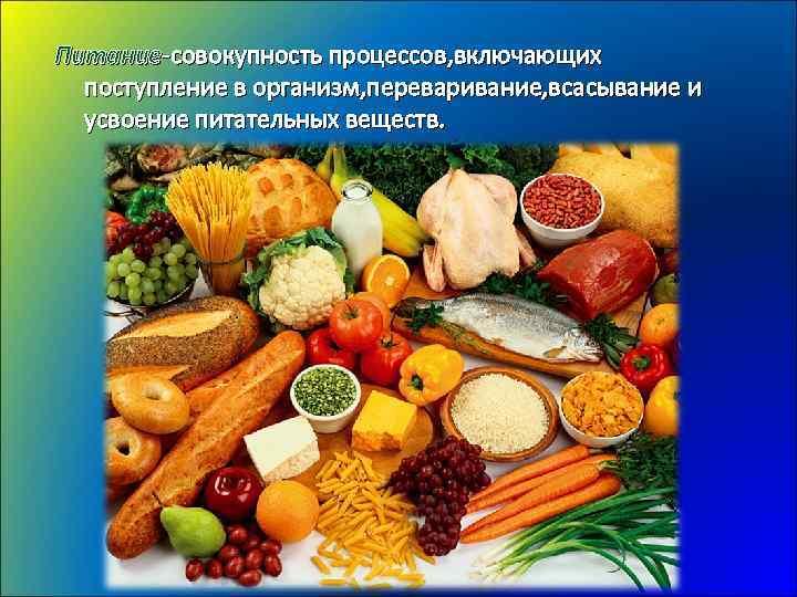 Правильное питание здоровый образ жизни реферат 7076