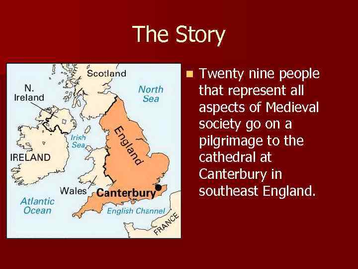 The Story n Twenty nine people that represent all aspects of Medieval society go