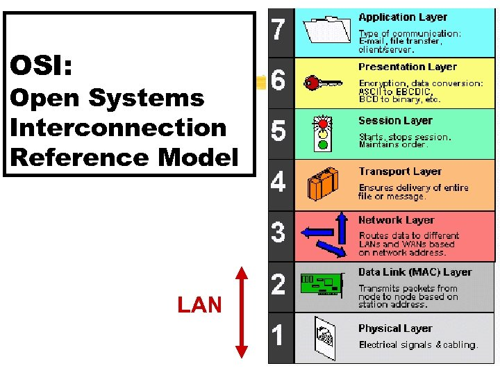 OSI: Open Systems Interconnection Reference Model LAN