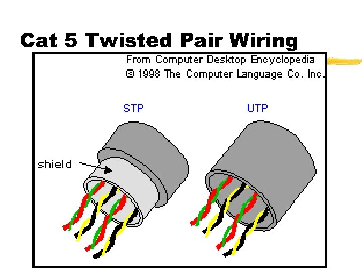 Cat 5 Twisted Pair Wiring