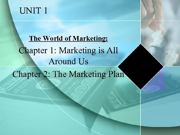 UNIT 1 The World of Marketing: Chapter 1: Marketing is All Around Us Chapter