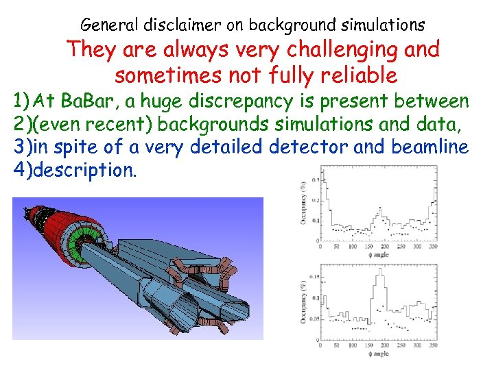 General disclaimer on background simulations They are always very challenging and sometimes not fully