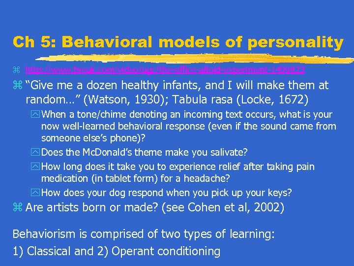 the behavioral model sees cause of abnormality as the learning of maladaptive habits Explore psychology sfcs's board psya2 - abnormality - behavioural on pinterest | see more ideas about operant conditioning, psicologia and school psychology discover recipes, home ideas, style inspiration and other ideas to try.