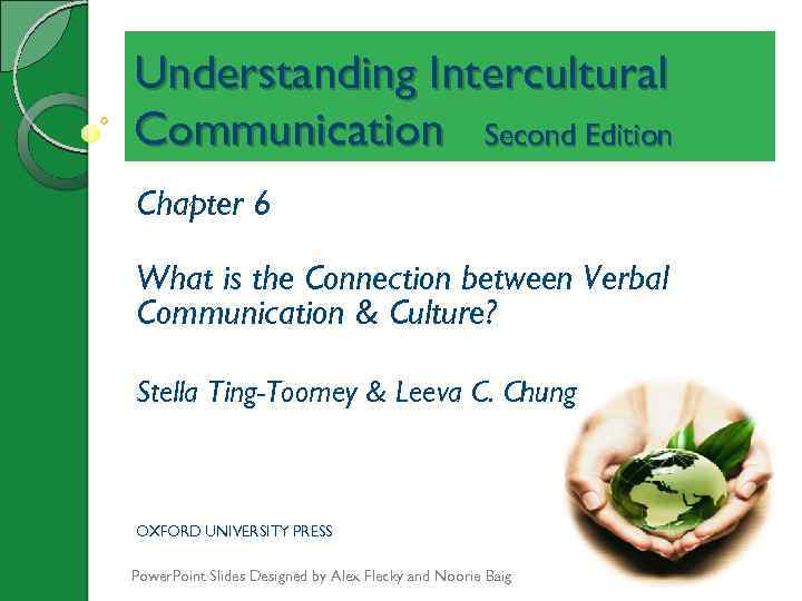 Understanding Intercultural Communication Second Edition Chapter 6 What is the Connection between Verbal Communication