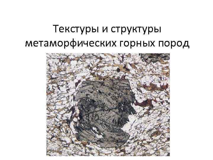 Текстуры и структуры метаморфических горных пород