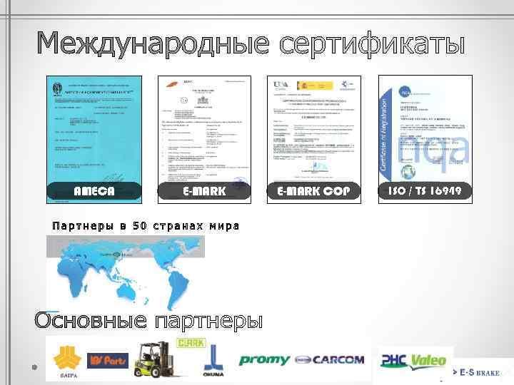 AMECA E-MARK COP ISO / TS 16949
