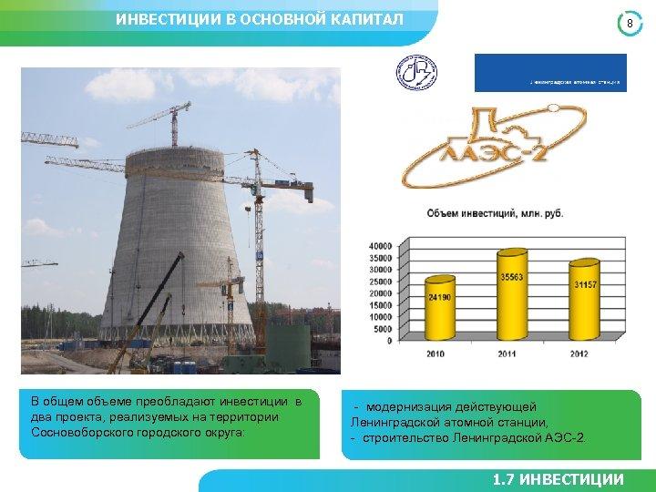 ИНВЕСТИЦИИ В ОСНОВНОЙ КАПИТАЛ В общем объеме преобладают инвестиции в два проекта, реализуемых на