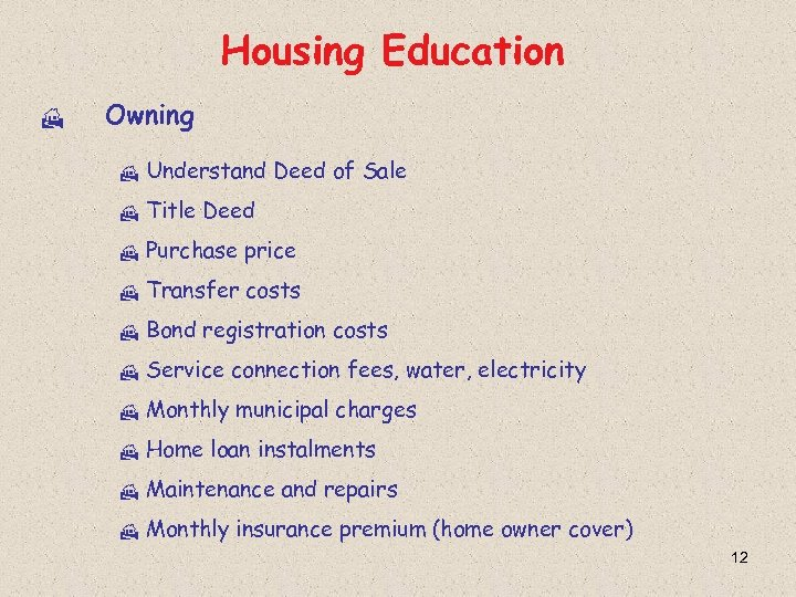 Housing Education H Owning H Understand Deed of Sale H Title Deed H Purchase