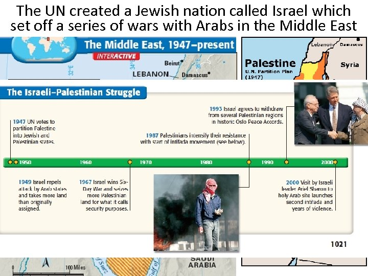 The UN created a Jewish nation called Israel which set off a series of