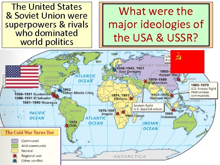 The United States One of the most &important changes Soviet Union were superpowers &