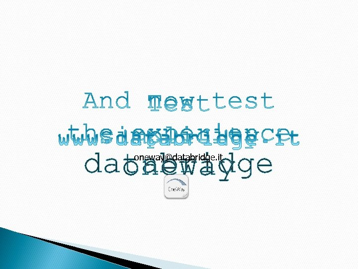 databridge oneway@databridge. it