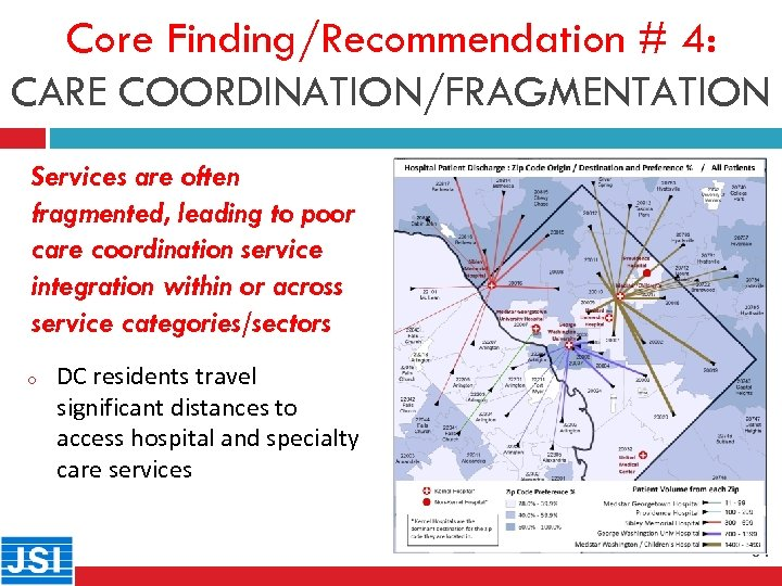 Core Finding/Recommendation # 4: CARE COORDINATION/FRAGMENTATION Services are often 31 fragmented, leading to poor