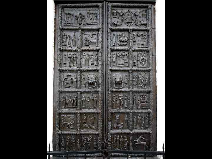 Военный трофей новгородцев, захваченный в Магдебурге и установленный в северных вратах Св. Софии. 11