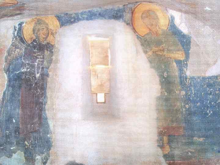 Ангел вручает монашеский устав Пахомию.