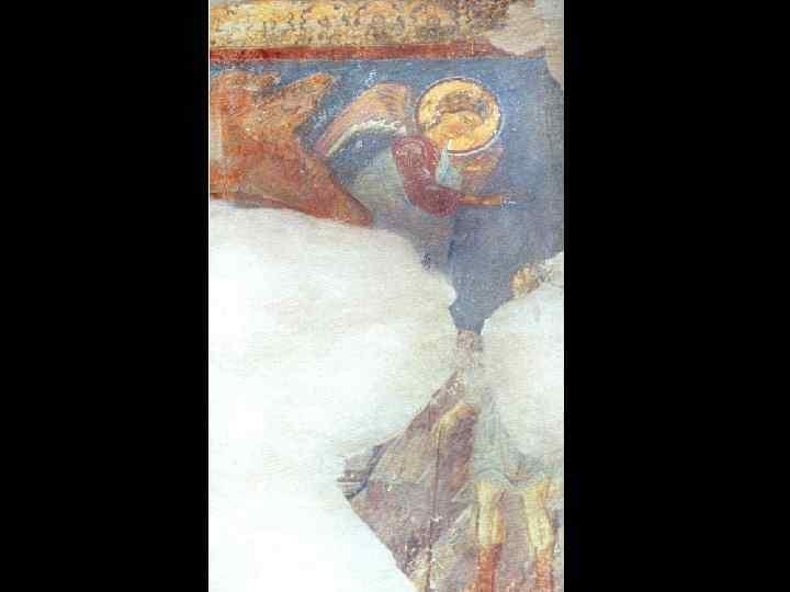 Благовестие пастухам. «Рождество Христово» . Роспись южной стены.