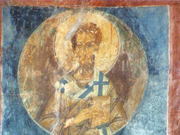 Святитель Симеон Иерусалимский. Роспись восточной стены над жертвенником.