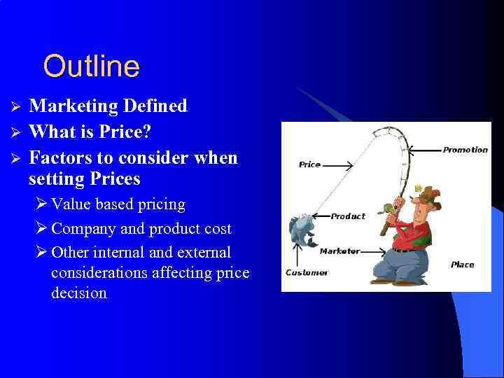 explain factors affecting pricing decisions